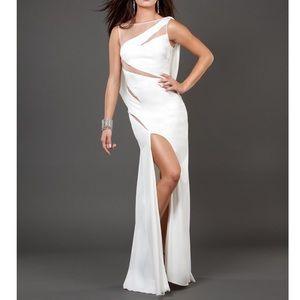 Jovani 73893 Illusion Cutout Formal Dress